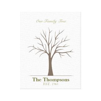 Family Fingerprint Tree Gallery Wrap Canvas
