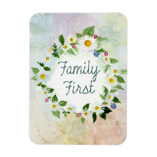 """Family First 3""""x4"""" Photo Magnet"""