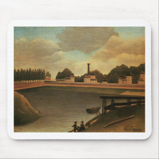 Family Fishing by Henri Rousseau Mouse Pad