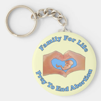 Family for Life Basic Round Button Key Ring