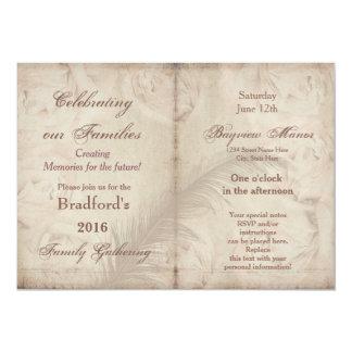 Family Gatherings -Invitations - VINTAGE FLORAL 13 Cm X 18 Cm Invitation Card