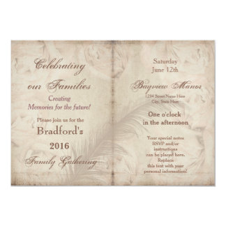 Family Gatherings -Invitations - VINTAGE FLORAL Card