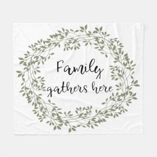 """Family gathers here"" Farmhouse Style Blanket"