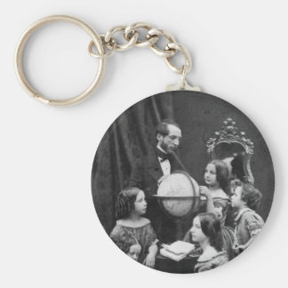 Family Geography Lesson 1850 Key Chain