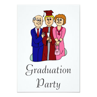 Family Graduation 13 Cm X 18 Cm Invitation Card