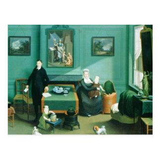 Family Group, c.1810 Postcard