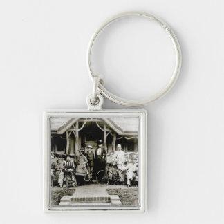 Family Group, c.1900 (b/w photo) Key Chains