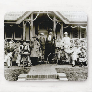 Family Group c 1900 b w photo Mouse Pad