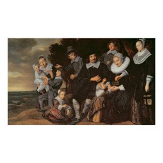 Family Group in a Landscape, c.1647-50 Poster