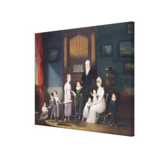 Family Group in an interior, c.1800 Canvas Print
