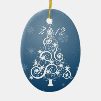 Family Heirloom, Yearly Ornament. (customize) Ceramic Oval Decoration