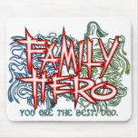 Family Hero Mouse Pad
