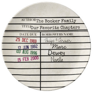 Family History Library Card Graphic Plate Porcelain Plates