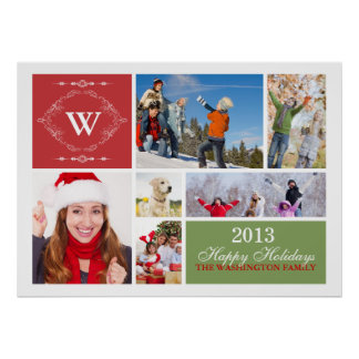 Family Holiday Greeting Print