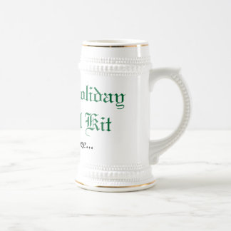 Family Holiday Survival Kit Beer Steins