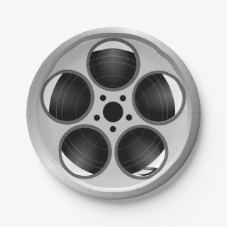 Family Home Theater Movie Film Reel Paper Plate