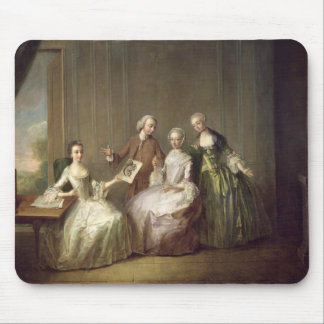 Family in an Interior with Squirrels Mouse Mat