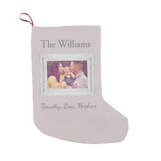 Family in Photo Frame Christmas Small Christmas Stocking