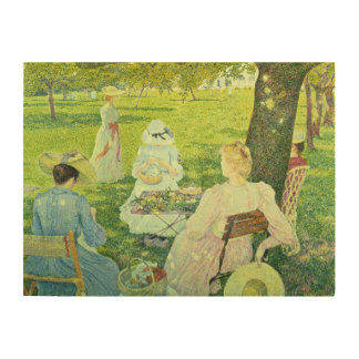 Family in the Orchard, 1890 Wood Wall Art