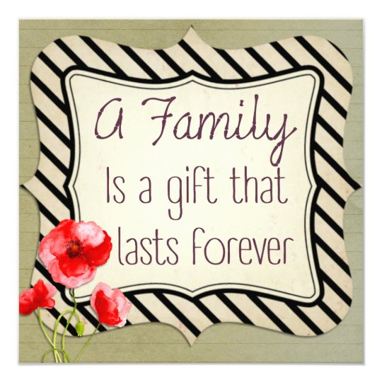 Family Inspirational Quote Card