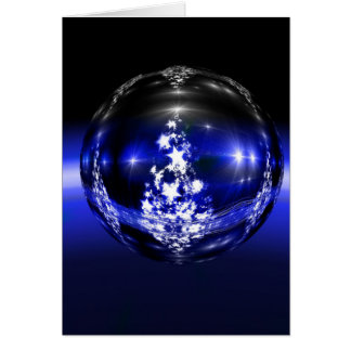 """""""Family is Forever"""" Blue Sparkle Christmas Card"""
