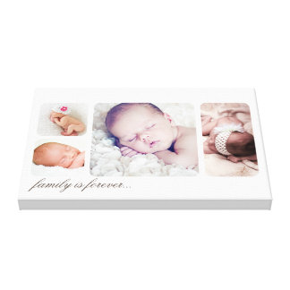 Family is Forever Keepsake Photo Collage Canvas Print