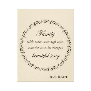Family is like music canvas print