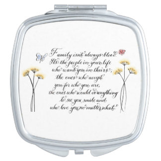 Family isn't always blood quote makeup mirror