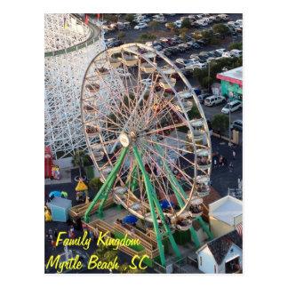 Family Kingdom Carousel Postcard