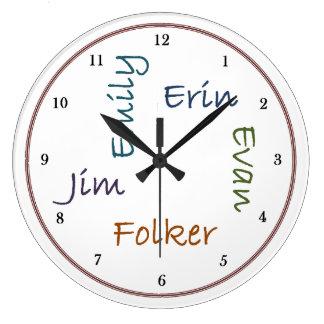 Family Kitchen Clock