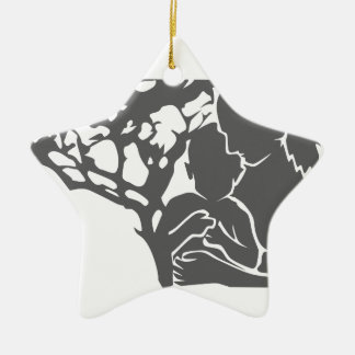 family love / mother and child christmas ornament