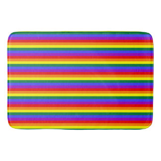 Family love Pride flag rainbow Bathroom mat