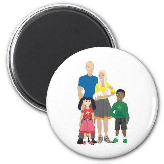 Family 6 Cm Round Magnet