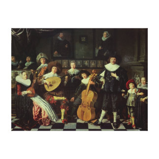 Family Making Music Canvas Print