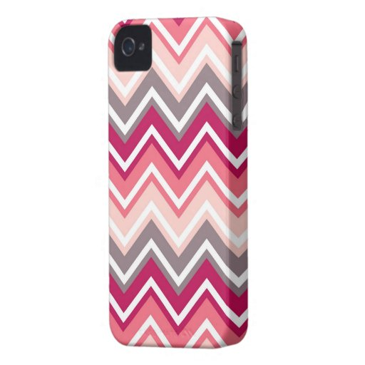 Family marries for Blackberry Bold pink chevron iPhone 4 Case