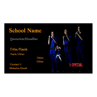 Family Martial Arts Business Card