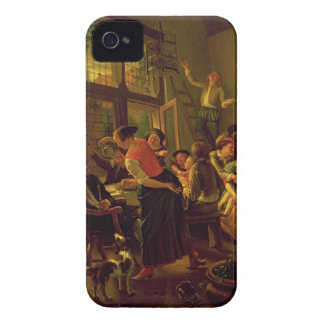 Family Meal (oil on canvas) iPhone 4 Case-Mate Case