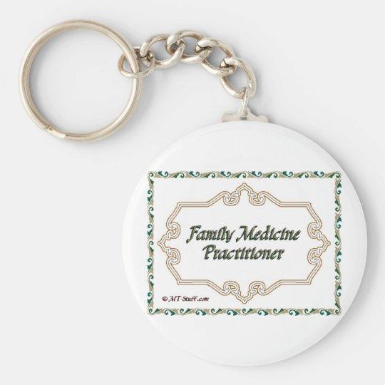 Family Medicine Practitioner Basic Round Button Key Ring