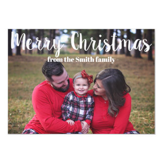 Family Merry Christmas Holiday Card
