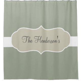 Family Monogram Shower Curtain