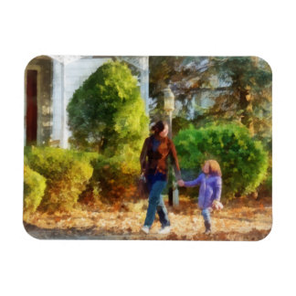 Family - Mother and Daughter Taking a Stroll Magnet