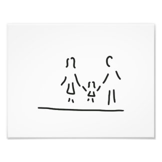 family mother father daughter photo art