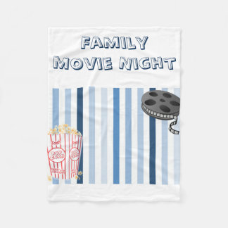 Family Movie Night Fleece Blanket