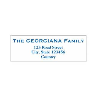 Family Name + Address Self-Inking Stamp