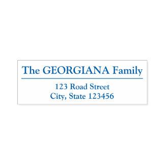 Family Name + Address + Separator Line Self-inking Stamp