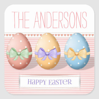 Family Name Easter Egg Stickers