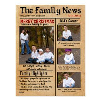 Family News Christmas Card or Newsletter Postcard