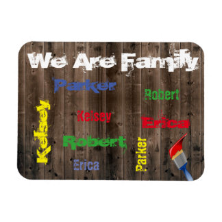 Family Of 4 Personalized Rectangular Photo Magnet