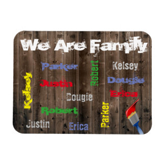 Family Of 6 Personalized Rectangular Photo Magnet