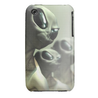 Family of aliens huddled together. iPhone 3 cases
